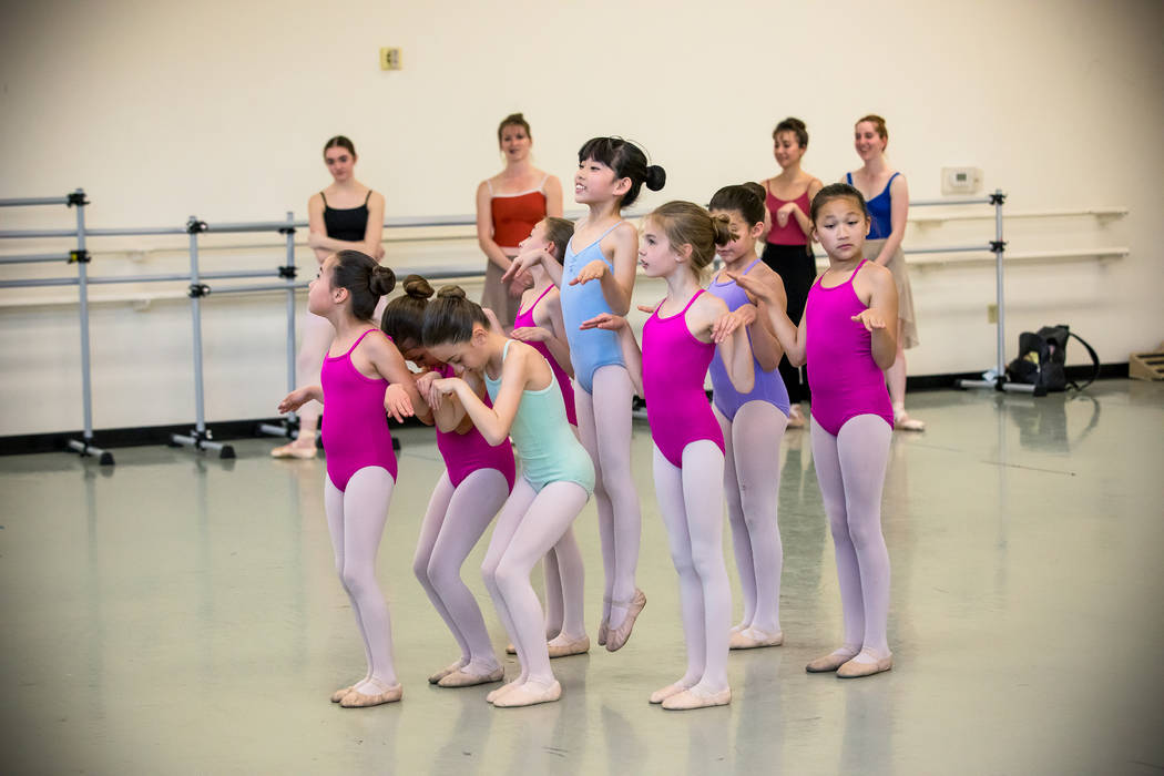 Academy of Nevada Ballet Theatre Students as Baby Flamingos in Alice (In Wonderland) by Septime ...