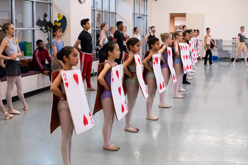 Students from Academy of NBT as Junior Cards in Alice (In Wonderland) by Septime Webre. Virgini ...