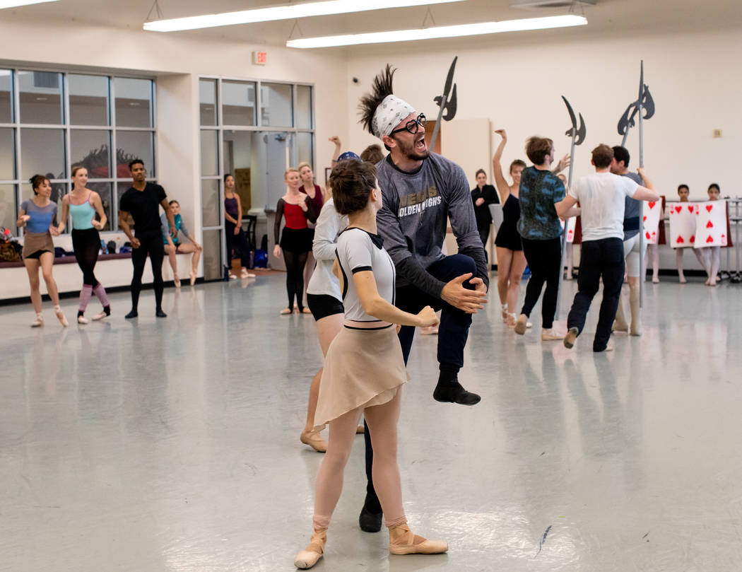 Betsy Lucas and Steven Goforth as Alice and King of Hearts in Alice (In Wonderland) by Septime ...