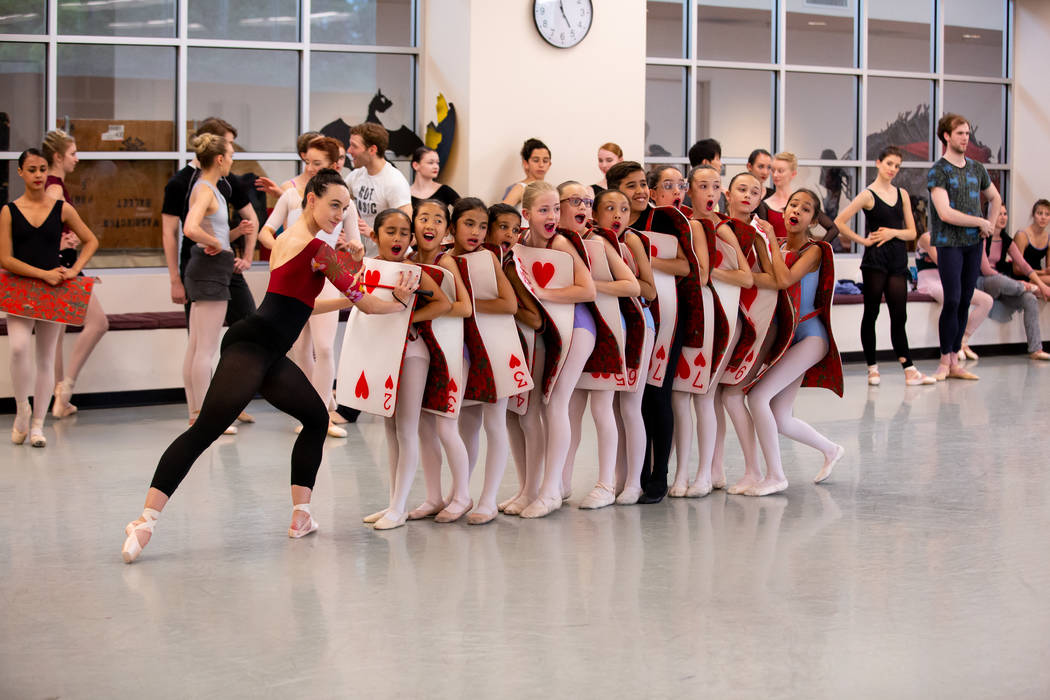 Krista Baker as Queen of Hearts with Students from Academy of NBT as Junior Cards in Alice (In ...