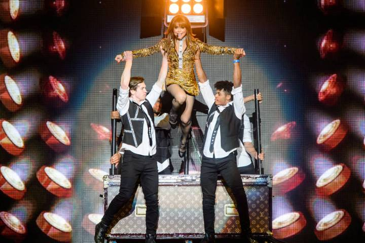 Paula Abdul performs at T-Mobile Arena on Sunday, May 28, 2017, in Las Vegas. (Brenton Ho/Power ...