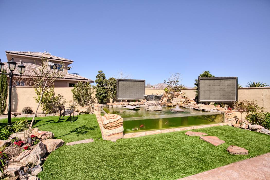 """Tanked"" star Brett Raymer built a 6,000-gallon koi pond in the backyard. (Signature Real Estat ..."