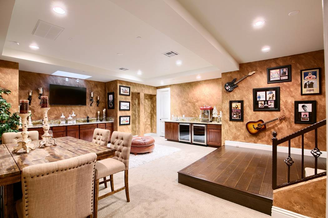 The basement houses a lot of memorabilia. (Signature Real Estate Group)