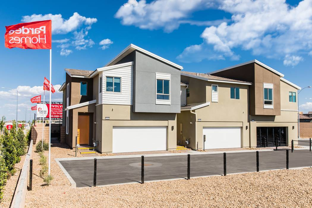 Pardee Homes' new Evolve town home community will celebrate its grand opening today and tomor ...
