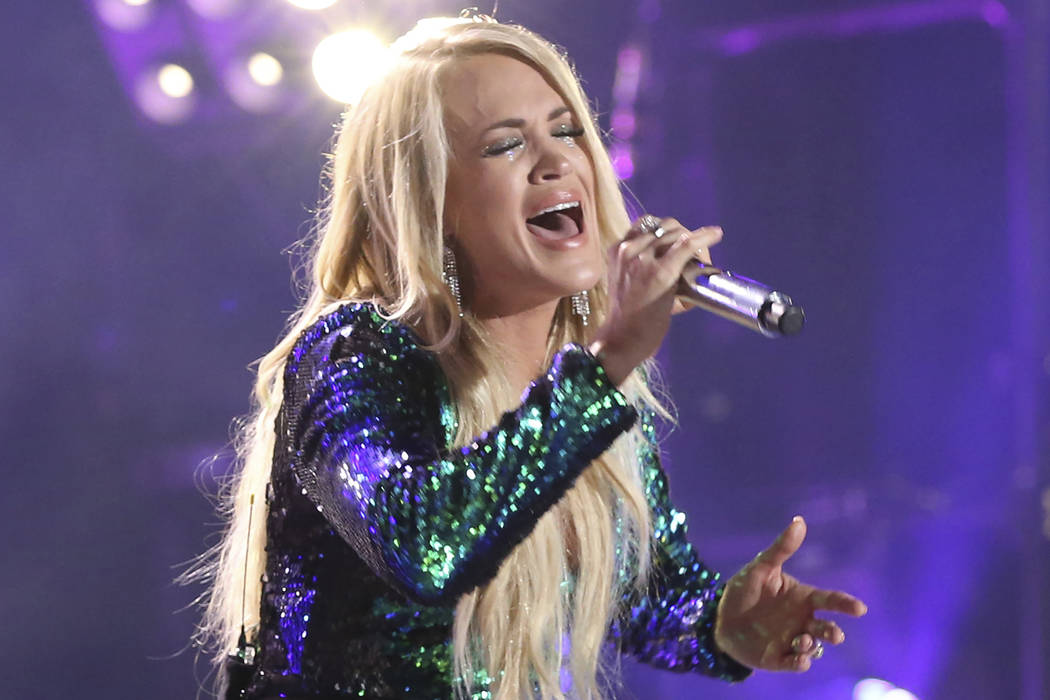 Artist Carrie Underwood performs at the 2018 CMA Music Festival at Nissan Stadium on Friday, Ju ...