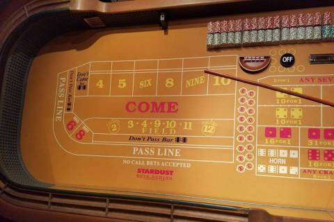 A seller on eBay is offering a craps table from the Stardust, a Las Vegas casino that opened in ...