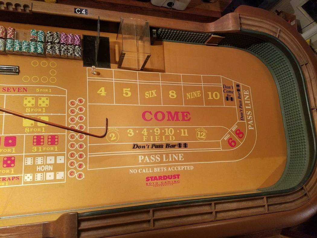 Fabulous Old Stardust Craps Table Can Be Yours If The Price Is Right Best Image Libraries Weasiibadanjobscom