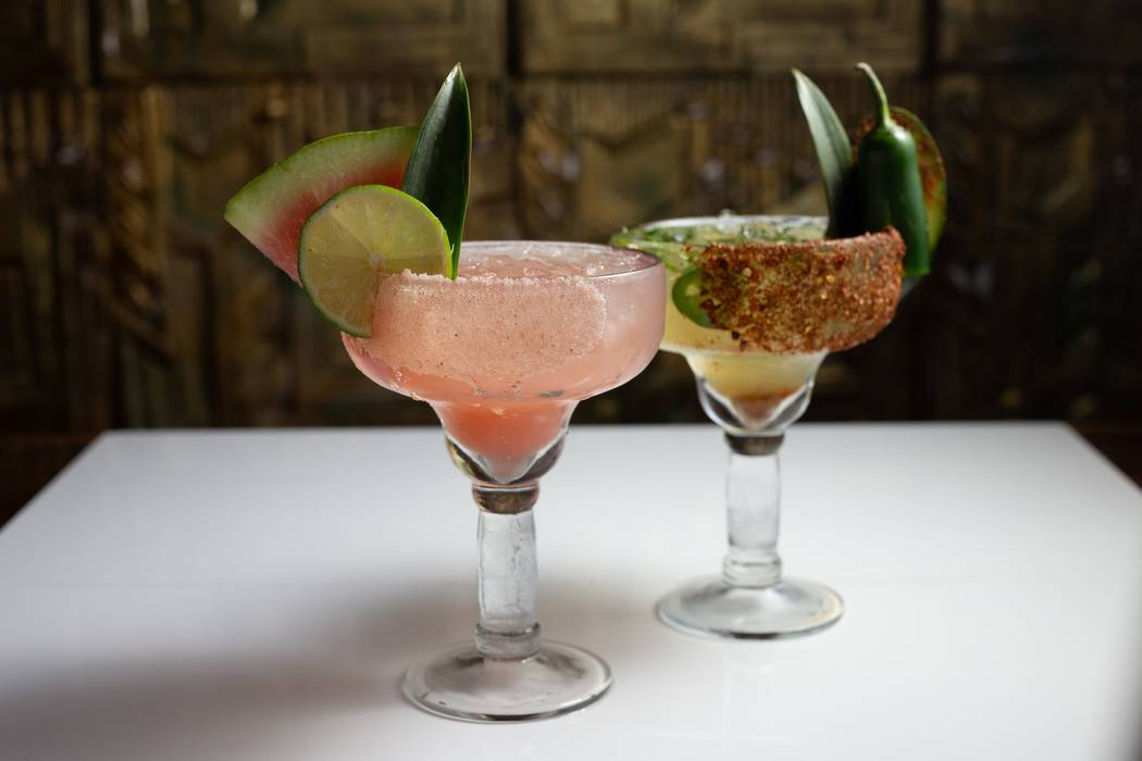 Watermelon and jalapeno-cucumber margaritas at El Dorado Cantina (El Dorado Cantina)