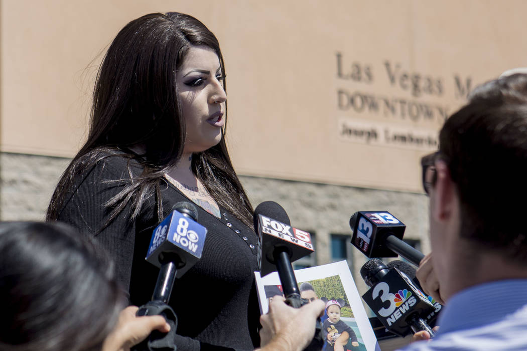 Julie Campos discusses the death of her husband, homicide victim Luis Campos, at the Metropolit ...