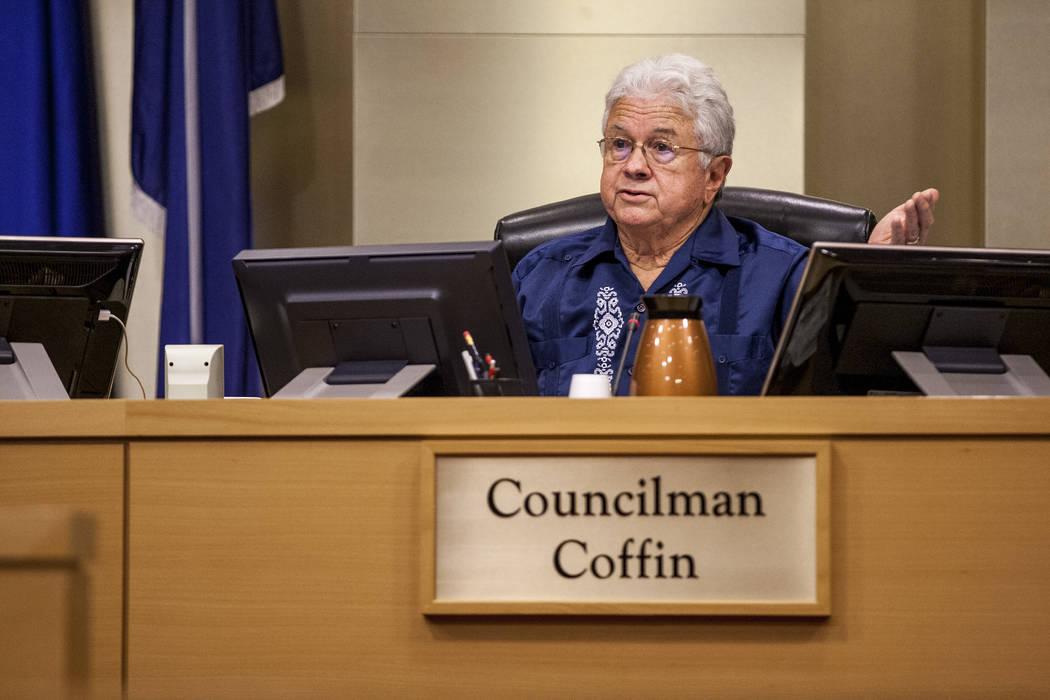 Las Vegas City Councilman Bob Coffin. (Patrick Connolly/Las Vegas Review-Journal) @PConnPie