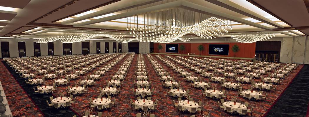 Caesars said Wednesday it has $230 million in business booked at its future Caesars Forum conve ...