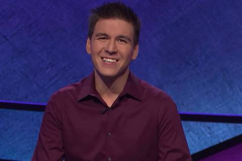 """Las Vegan James Holzhauer, appearing on """"Jeopardy!"""" on Tuesday, April 17, 2019. (Jeopardy F ..."""