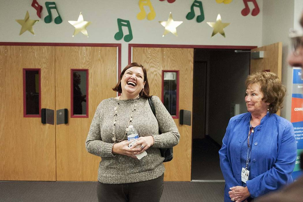 Anna Cedro, executive director at Care Coalition, left, and Robin Wadley-Munier, assistant to C ...