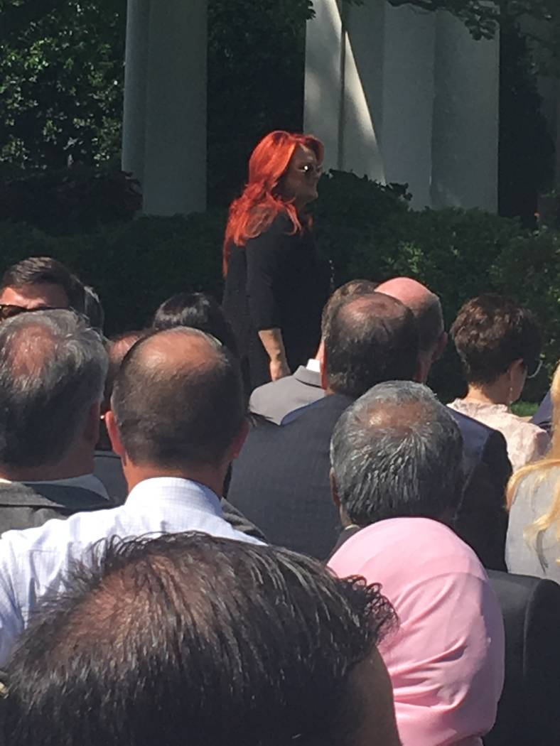 Country music star Wynonna Judd in the Rose Garden Thursday at a celebration of the National Da ...