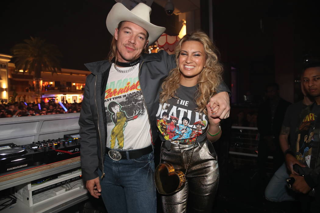 Diplo and Tori Kelly are shown performing at Encore Beach Club on Wednesday, May 1, 2019. (Dann ...