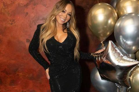 Mariah Carey is shown at Tao Nightclub at the Venetian on Wednesday, May 1, 2019. (Global Media ...