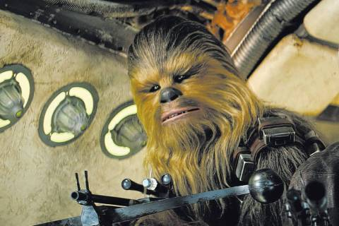 "Chewbacca (Peter Mayhew) stars in ""Star Wars: The Force Awakens"" in 2015. (Lucasfilm)"