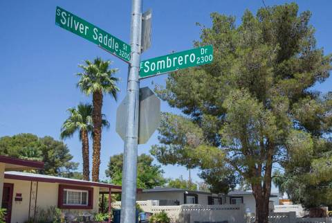 The intersection of South Silver Saddle Street and East Sombrero Drive on Friday, April 26, 201 ...