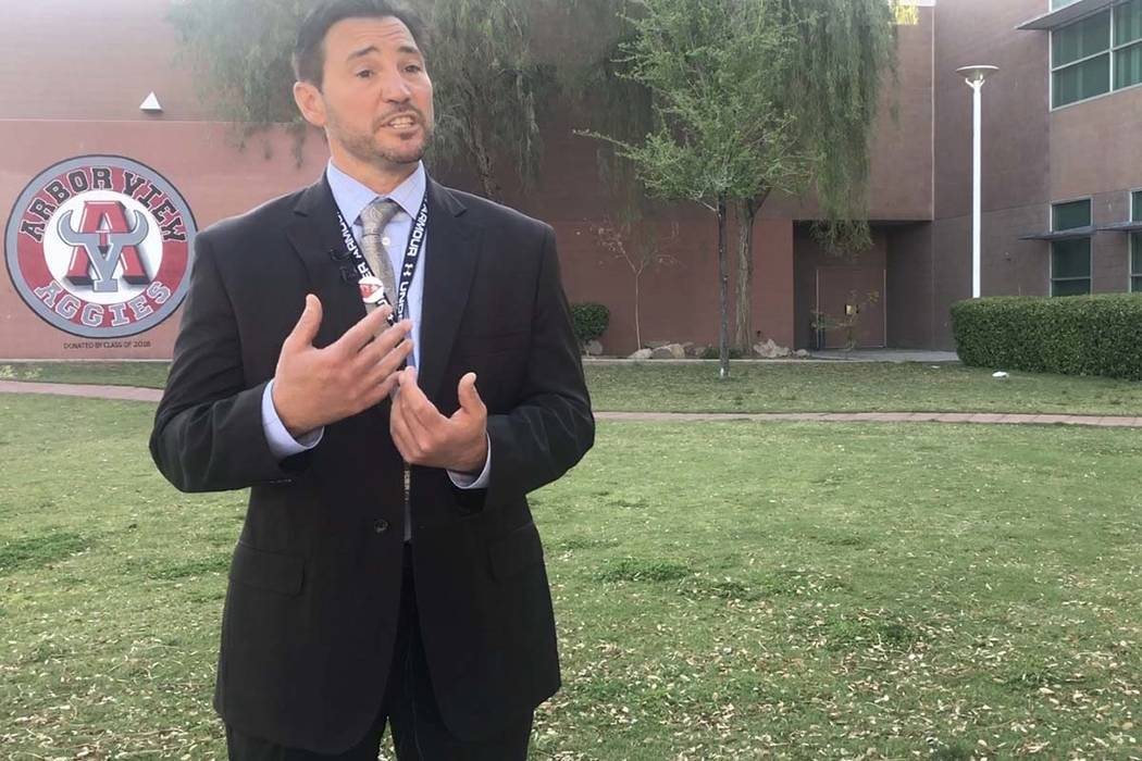 Kevin McPartlin, the principal at Arbor View High School, discusses anti-bias training given to ...