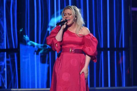 """Kelly Clarkson performs """"Broken & Beautiful"""" at the Billboard Music Awards on Wednesday, May 1, ..."""