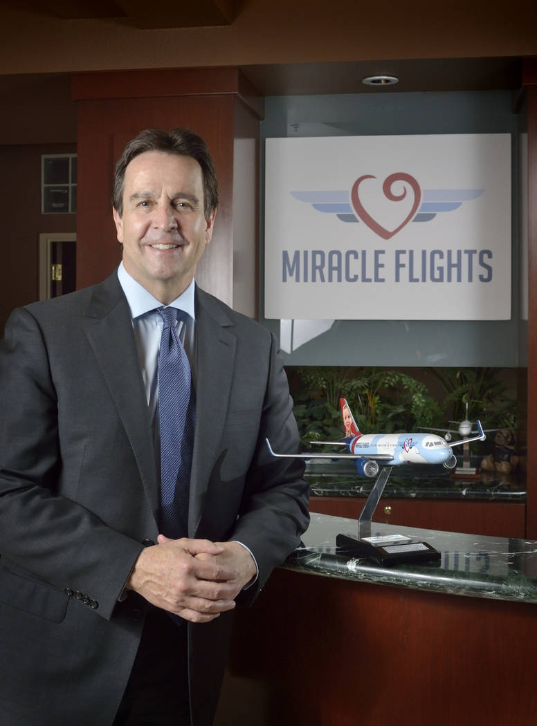 Mark Brown, CEO of Miracle Flights, is shown at the organization's offices at 5740 S. Ea ...