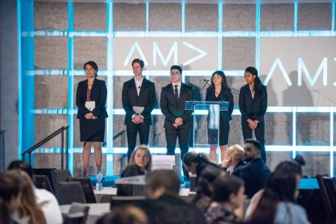 UNLV American Marketing Association team members present their case in New Orleans. (Layla Muha ...