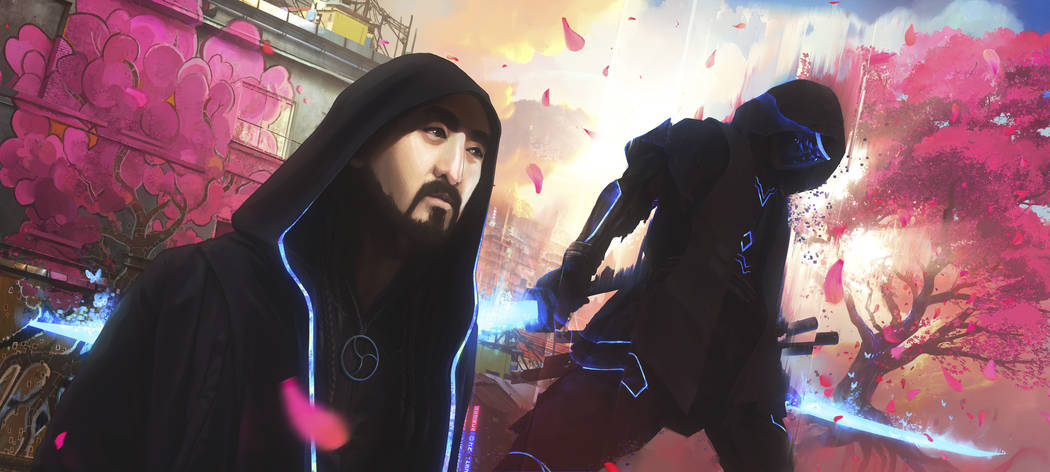 """This image provided by Steve Aoki shows a scene from his comic book """"Neon Future."""" Th ..."""