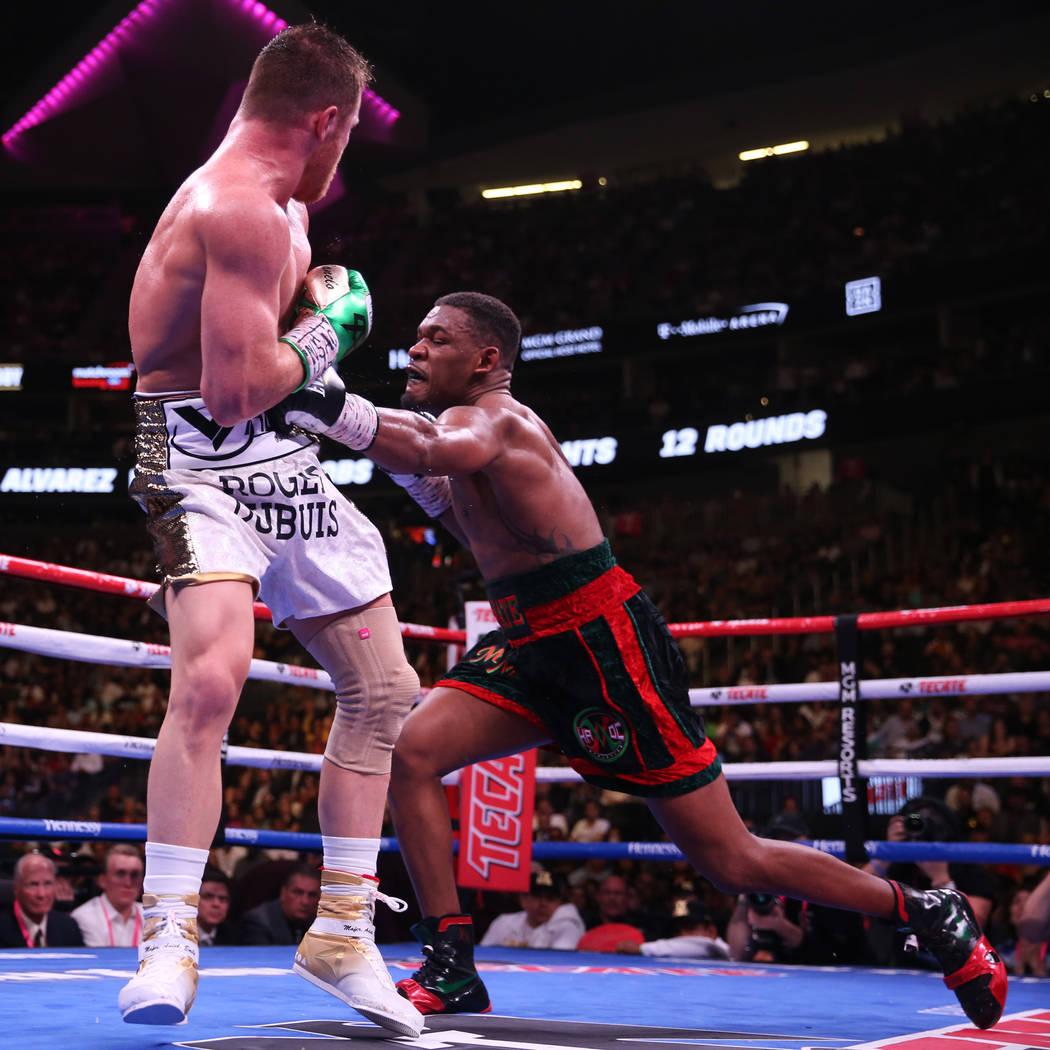 at T-Mobile Arena in Las Vegas, Saturday, May 4, 2019. (Erik Verduzco / Las Vegas Review-Journa ...