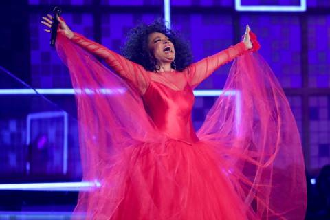 Diana Ross performs a medley at the 61st annual Grammy Awards on Sunday, Feb. 10, 2019, in Los ...