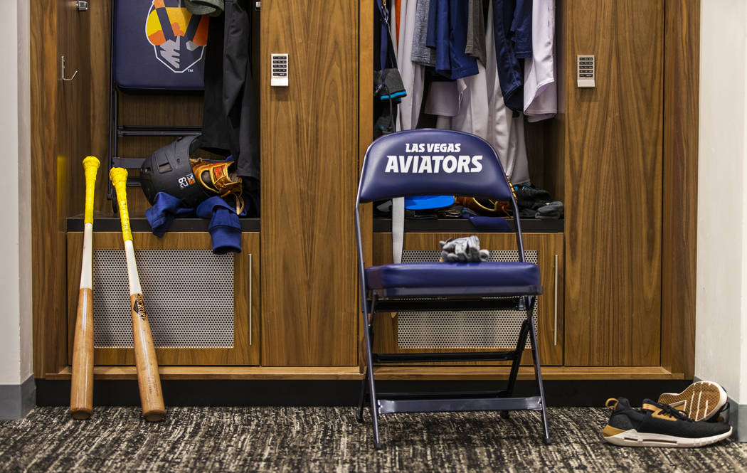 The Aviators clubhouse at the Las Vegas Ballpark is one of many amenities to help players devel ...
