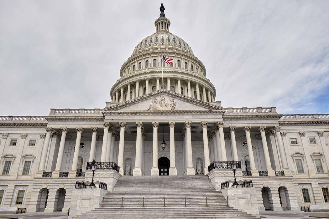 The east face of the United States Capitol Building is seen in this general view. Monday, March ...