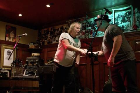 The Black Donnellys appear at Ri Ra Irish Pub during the beginning of their journey for the fil ...