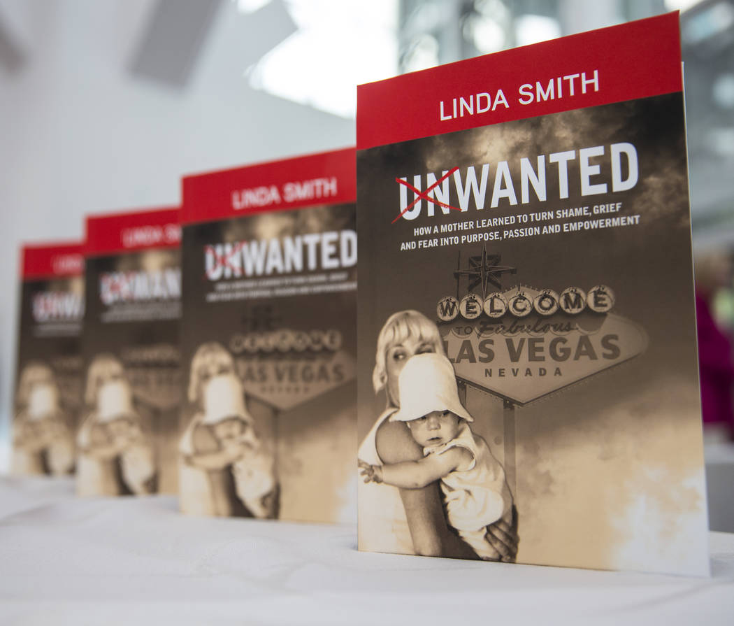 """Copies of Linda Smith's memoir """"Unwanted,"""" about being a child abuse survivor and mot ..."""