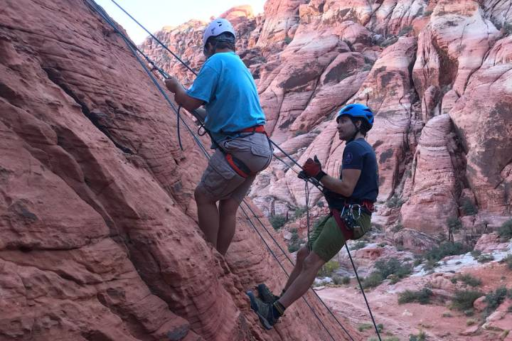 Volunteers from Jackson Hole Mountain Guides helped assist teens participating in the Adaptive ...