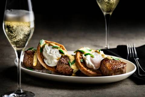 Filet Mignon Benedict at Del Frisco's Double Eagle Steakhouse. (Del Frisco's Double Eagle Steak ...