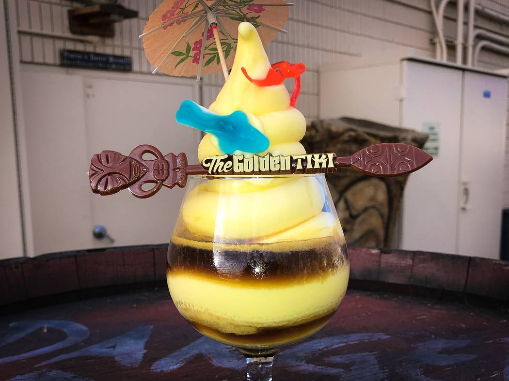Dole Whip with rum at The Golden Tiki.. (The Golden Tiki)