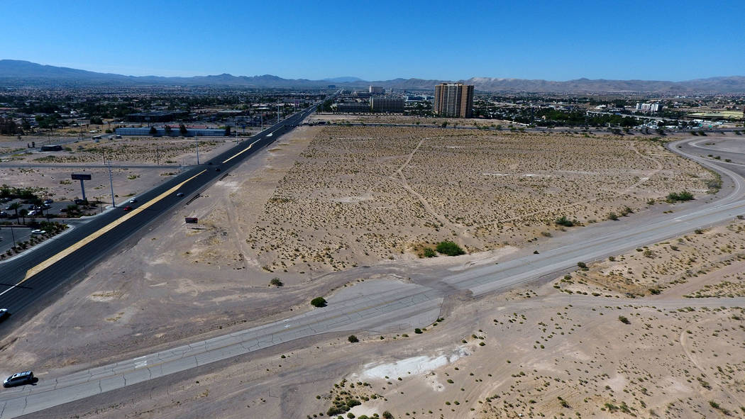 Aerial photograph of property at the northwest corner of Las Vegas Blvd and Blue Diamond Road o ...