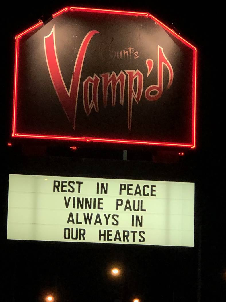 One of Vinnie Paul's favorite local haunts was Count's Vamp'd rock club. (Count's Vamp'd)