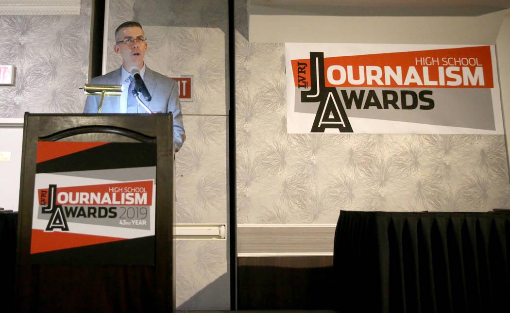 Las Vegas Review-Journal Executive Editor Glenn Cook at the 43rd annual Las Vegas Review-Journa ...