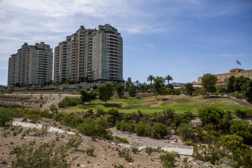 The 250-acre site of the closed Badlands golf course, seen in 2017. (Las Vegas Review-Journal)