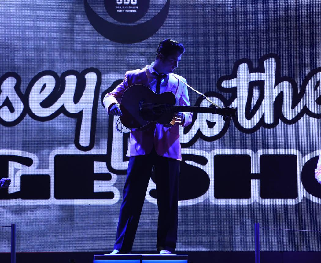 "Eddie Clendening is shown in a scene from ""Elvis Presley's Heartbreak Hotel the Concert,"" in re ..."