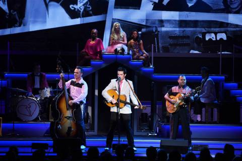 "A scene from ""Elvis Presley's Heartbreak Hotel the Concert,"" in residency at Harrah's Showroom. ..."