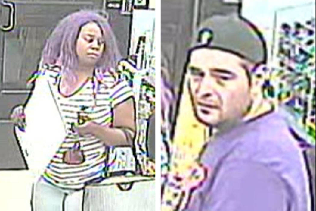Police are looking for these people suspected of trying to leave a business without paying for ...