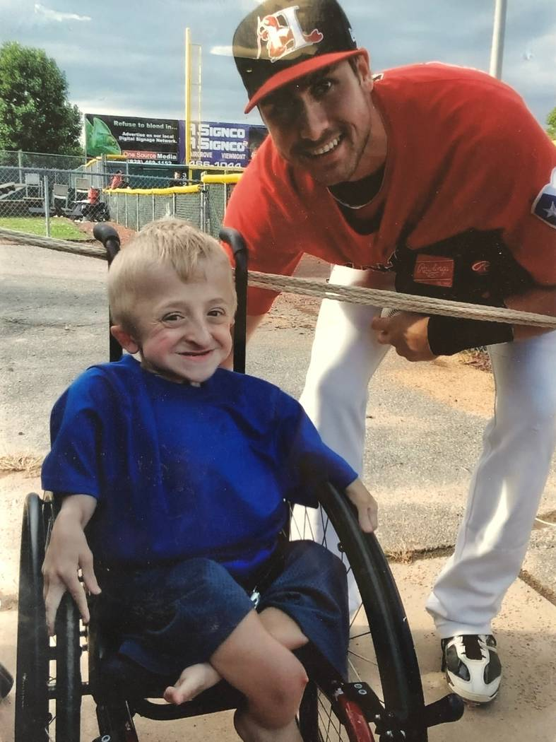 Texas Rangers slugger Joey Gallo and Las Vegas youngster Dan McCarty have been friends since Ga ...