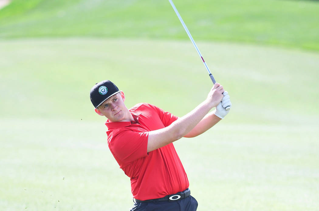 UNLV senior Harry Hall was named Mountain West Conference golfer of the year after winning twic ...