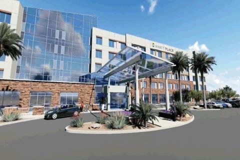 A rendering of Hyatt Place Las Vegas Silverton Village. (Silverton Hotel and Casino)