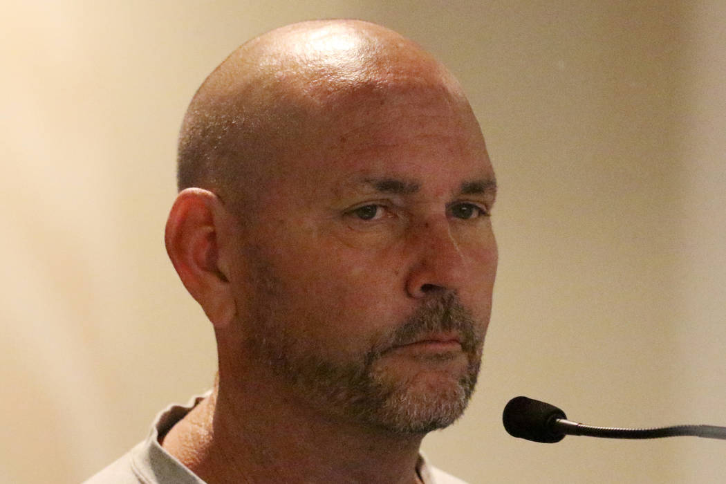 Former St. Viator Catholic School employee Todd Pomeroy appears in court at the Regional Justic ...