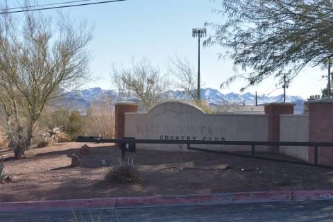 The Black Mountain Golf Course & Country Club entrance on Monday, Feb. 18. (Rachel Spacek/Las V ...