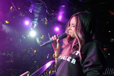 Ciara sang at the Bank nightclub in the Bellagio. Courtesy photo. (Courtesy photo by David Beck ...