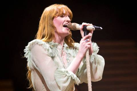 Florence Welch of the English rock band Florence and the Machine performs on day two of the ann ...
